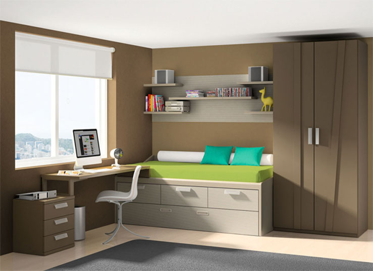 Muebles juveniles modernos y de dise o for Juego de habitacion moderno