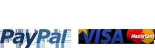Pago por PayPal, tarjeta VISA o Mastercard o Transferencia Bancaria