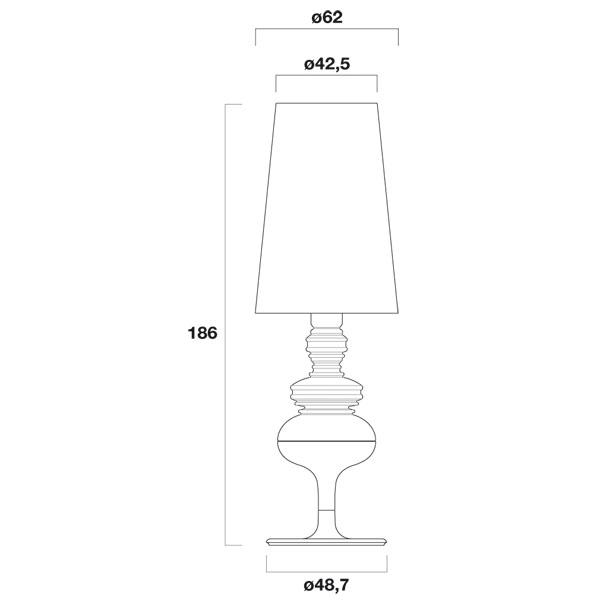 Medidas lámpara Josephine X Metalarte